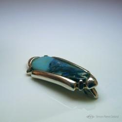 """""""Rivage Opalescent"""", Pendentif en Argentium et Opale d'Australie, Haute Joaillerie. Vue de la boucle"""