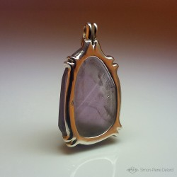 """Temperance"", Argentium and Amethyst pendant, High Jewelry. Back view"