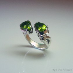 """Vegetal Apogy"", High Jewelry Ring, Peridot, 2020 Collection, Sp Delord"