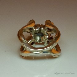 """""""Flower of Imaginary"""", Argentium and Australian Opal Ring, High Jewelry. Lost wax technique"""
