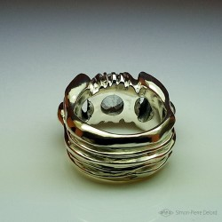 """""""Eternal snow"""", Jewelry Ring, intense white topaz, Arts and Crafts"""