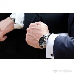 """Promenade à Etretat"", Argentium and Opal luxury Watch, High Jewelry. On a wrist"