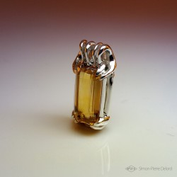 """Ambrosia"", High Jewelry Pendant, Citrine, Lost wax technique. Arts and Crafts"