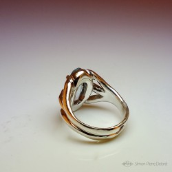 """""""Poseidon"""", High Jewelry Ring, Topaz, Lost wax technique. Arts and Crafts"""