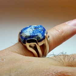 """Celestial"", High Jewelry Ring, Lapis lazuli, Lost wax technique. Arts and Crafts"