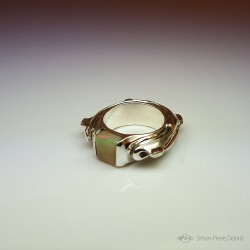 """""""Turtle"""", High Jewelry Ring, Opal from Australia, Lost wax technique. Arts and Crafts"""