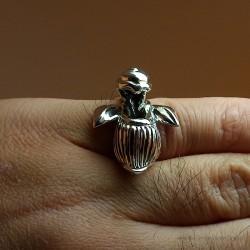 """""""Orchidée d'Argent"""", Bague d'Artisan d'Art Joaillier. Cire perdue, Art de la taille directe"""