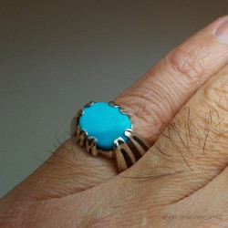 """Elysium"", High Jewelry Ring, Turquoise, Lost wax technique. Arts and Crafts"