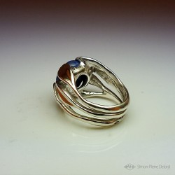 """""""The Blue Snail"""", High Jewelry Ring, Lapis lazuli, Lost wax technique. Arts and Crafts"""