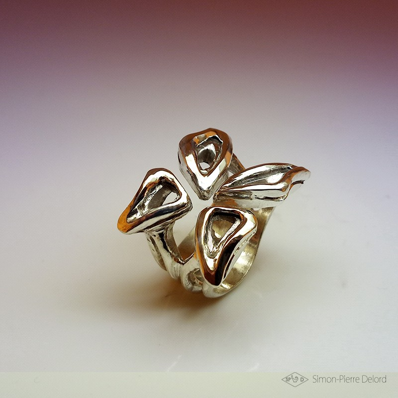 """""""Butterfly Effect"""", High Jewelry Ring,  Lost wax technique. Arts and Crafts"""