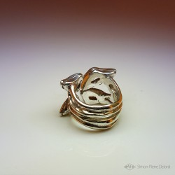 """Butterfly Effect"", High Jewelry Ring,  Lost wax technique. Arts and Crafts"