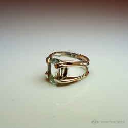 """""""Spring Dew"""", High Jewelry Ring, Aquamarine, Lost wax technique. Arts and Crafts"""