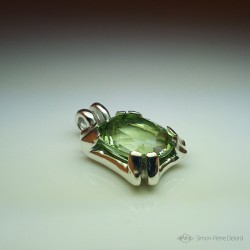 """""""Eternal Hope"""", High Jewelry Pendant, Water green quartz, Lost wax technique. Arts and Crafts"""