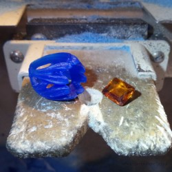 """Jewelery creation: Ring """"Stone of Light"""", Arts and Crafts Jeweler, Citrine. Lost wax, Direct carving art"""