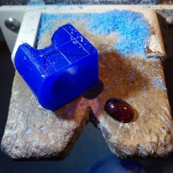 """Jewelery creation: Ring """"Cup of Abundance"""", Arts and Crafts Jeweler, Garnet. Lost wax, Direct carving art"""