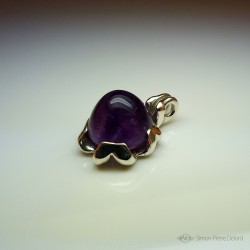 """""""Tiki"""", High Jewelry Pendant, Amethyst, Lost wax technique. Arts and Crafts"""