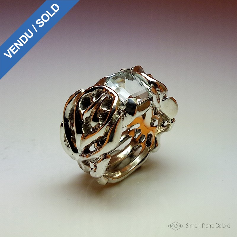 """""""Crystal Empire"""", High Jewelry Ring, Topaz, Lost wax technique. Arts and Crafts"""