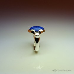 """""""Bastet"""", High Jewelry Ring, Lapis lazuli pupil, Lost wax technique. Arts and Crafts"""