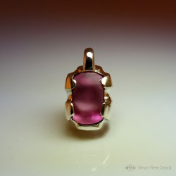 """""""Eternal Candy"""", High Jewelry Pendant, Pink topaz, Lost wax technique. Arts and Crafts"""