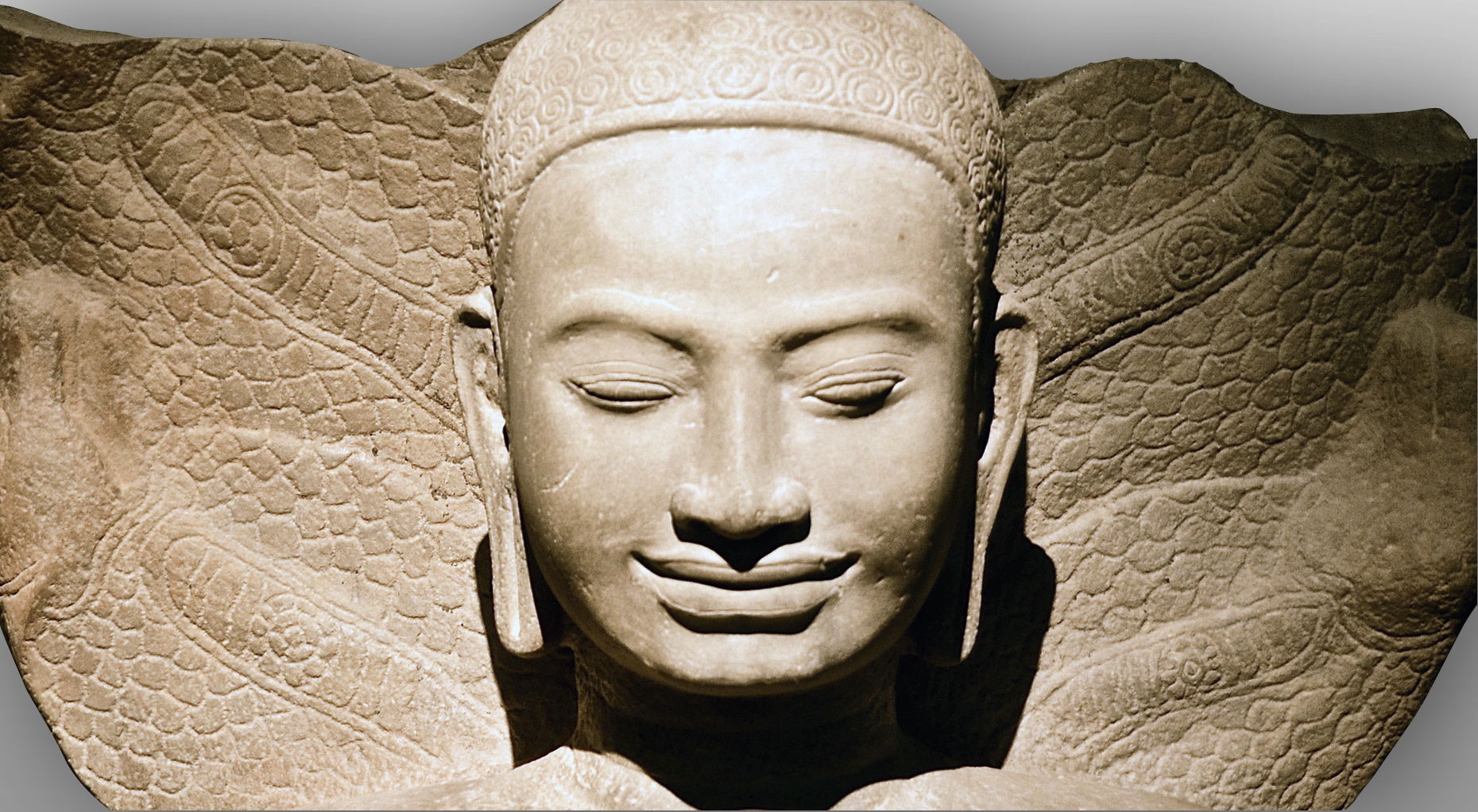 Buddha Muchalinda from the Temple Preah Khan Kompong Svay | Musée Guimet