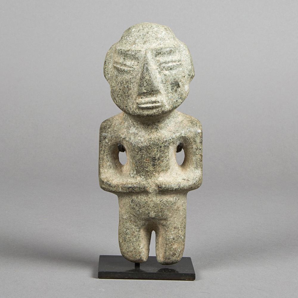 Statue Chontal, Mezcala, Guerrero State, Mexico Preclassic Period, 300-100 BC. AD