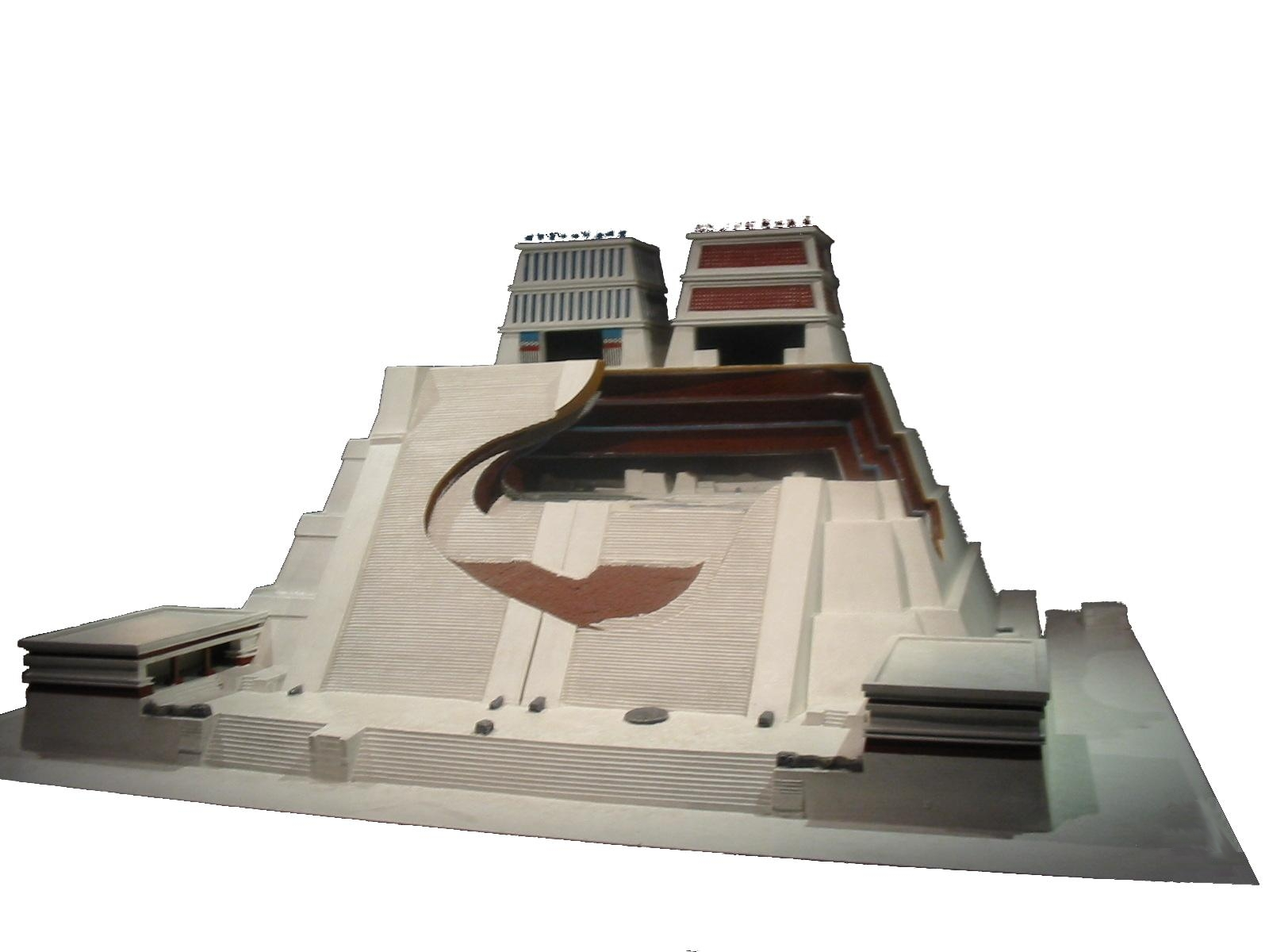 3d model of the Azteque Pyramid of Templo del Mayor in Mexico City produced by Leigh Thelmadatter