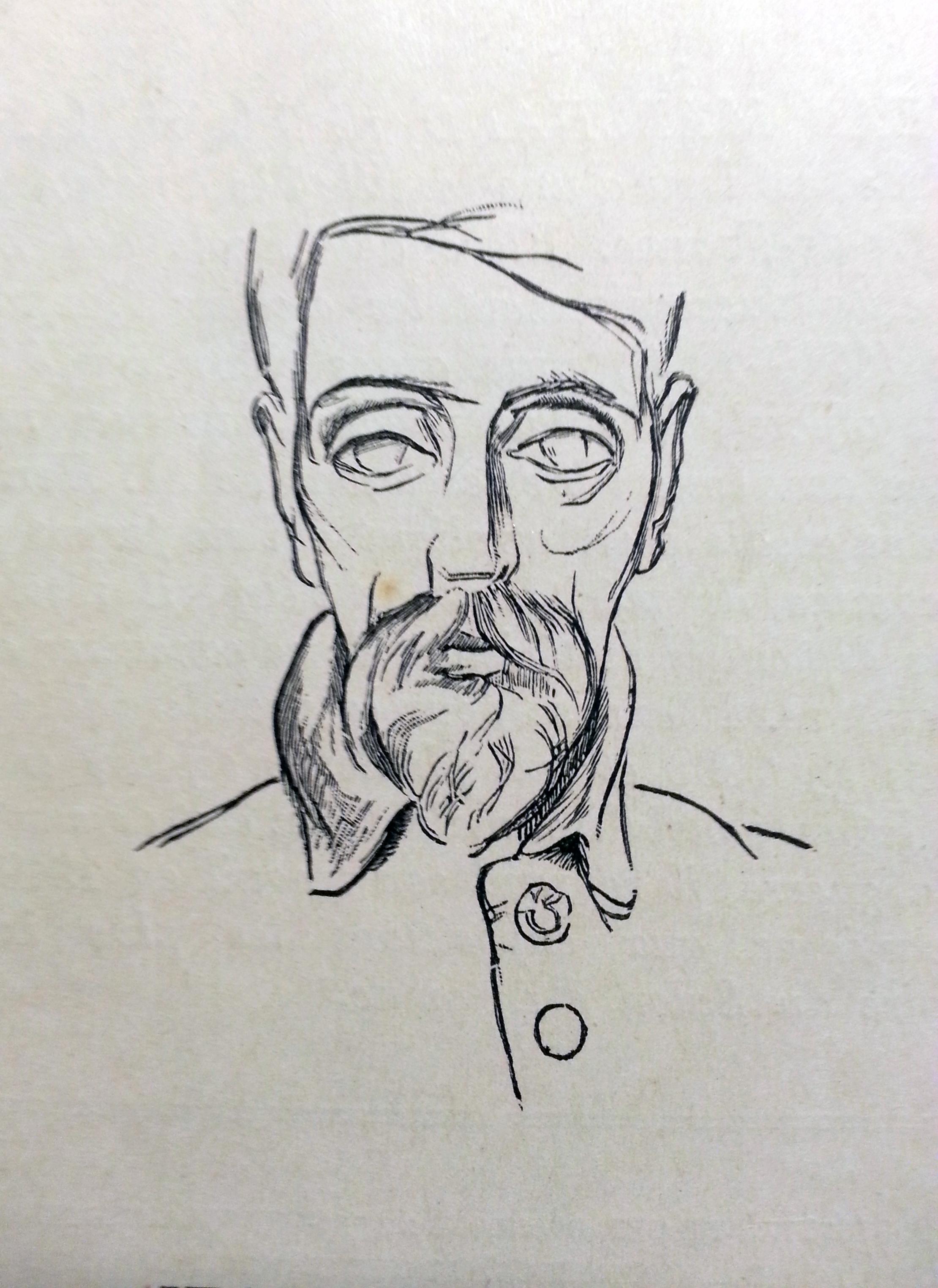 Jean Hippolyte Marchand |1883-1940 | Autoportrait | Dessin