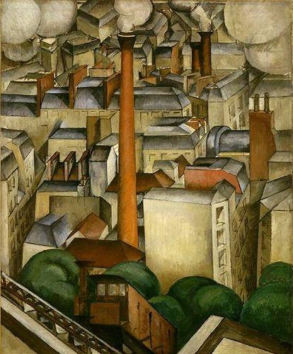 Jean Hippolyte Marchand |1883-1940 | Funicular of Montmartre | Museum of modern Art | Paris
