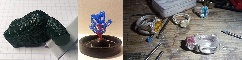 Art de la fonte à la cire perdue, fabrication de bijoux et de montres