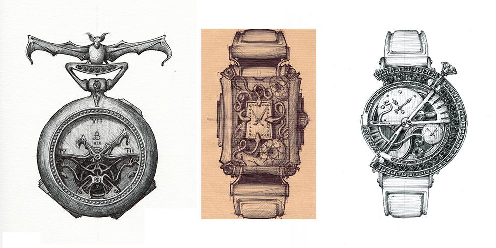 Art du dessin de montres