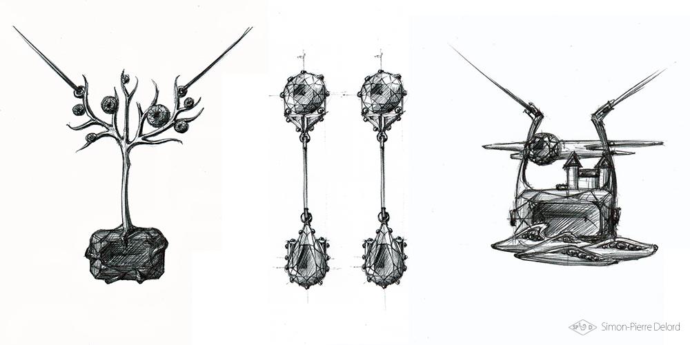 Artisan d'Art | Dessin et Gouaché de bijoux pour la joaillerie | Simon-Pierre Delord